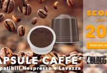 La settimana del buon caffè su 4blogg3rshop! Sconti del 20% su cialde e capsule compatibili Lavazza e Nespresso