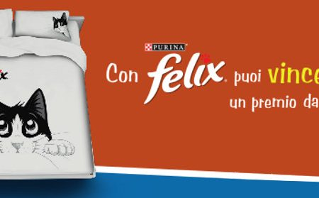 Snack omaggio e vinci un copripiumone Felix