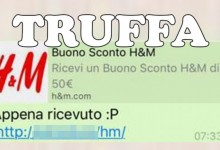 Truffa su WhatsApp: buono sconto H&M
