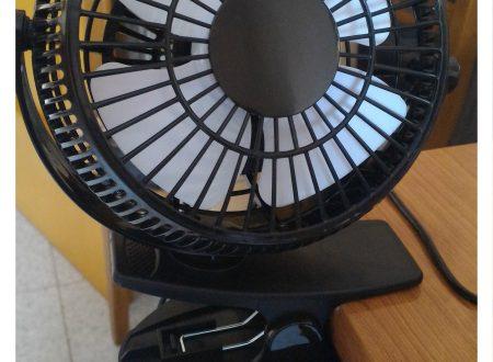 Ventilatore da tavolo con pinza Intsun