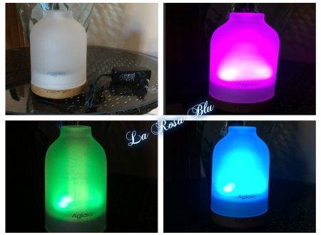 Diffusore + lampada LED colorati Aglaia