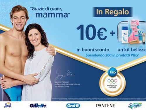 Omaggio carnet da 10 euro e kit prodotti di bellezza
