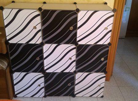 Armadio zebrato 9 cubi Finether