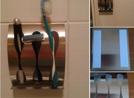 Porta spazzolini e rasoio Tatkraft