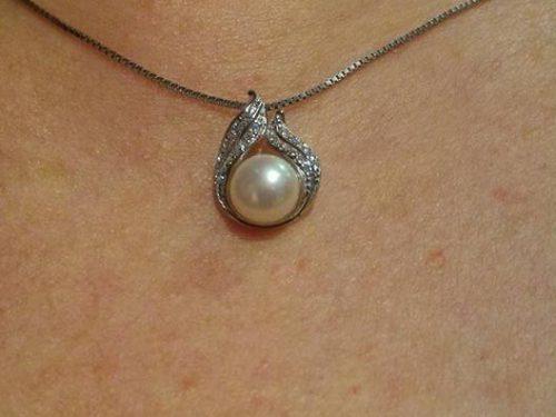 Collana Abbraccio con perla B.Catcher