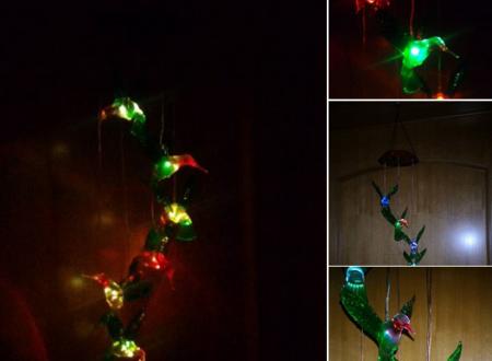 Scacciapensieri colibrì ad energia solare Pathonor