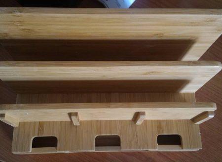 Organizzatore dispositivi in bamboo Moreslan
